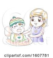 Kids Girl Toddler Cry Hug Sisterly Duty