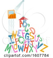 Crane Magnet Letters Illustration