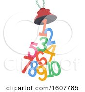 Crane Magnet Numbers Illustration