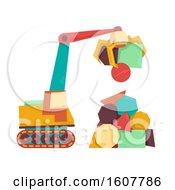 Crane Polygon Shapes Illustration