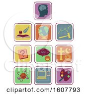 Subjects Or Topics Icons Illustration