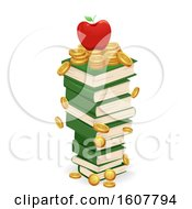 Book Coins Educational Fund Illustration