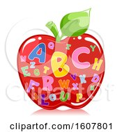 Apple Alphabet Illustration