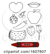 Color Red Coloring Book Illustration
