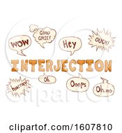 Doodles Interjections Illustration