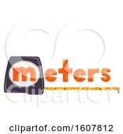 Poster, Art Print Of Meters Lettering Measurement Illustration