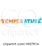 Temperature Hot Cold Lettering Illustration