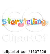 Story Telling Book Mascots Illustration