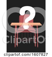 Armchair Question Mark Absent Illustration