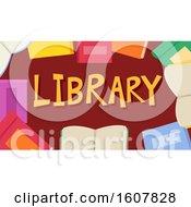 Books Library Lettering Illustration