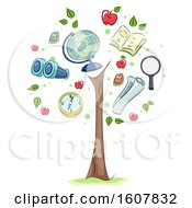Poster, Art Print Of Geography Growing Tree Illustration