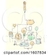 Money Management Doodle Illustration