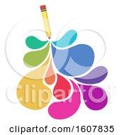 Creative Writing Pencil Illustration