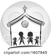 Family Church Icon Illustration