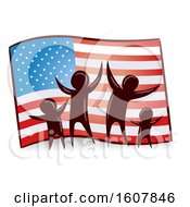 Poster, Art Print Of Flag Family Illustration