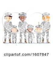 Poster, Art Print Of Stickman Family Military Army Brats Illustration