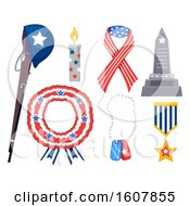 Poster, Art Print Of Memorial Day Elements Illustration