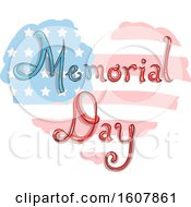 Memorial Day Heart Flag Illustration