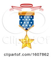 Memorial Medal Ribbon Illustration
