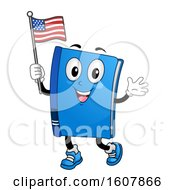 Mascot Book Flag Illustration