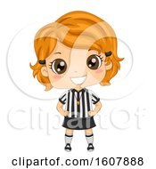 Kid Girl Referee Illustration