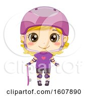 Kid Girl Skate Boarder Illustration