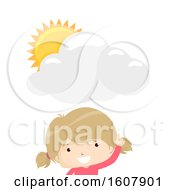 Kid Girl Tell Weather Illustration