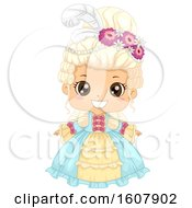 Kid Girl Victorian Dress Illustration
