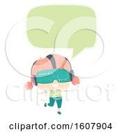 Kid Girl Speech Bubble Illustration