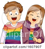 Kids Gay Lesbian Friends Illustration
