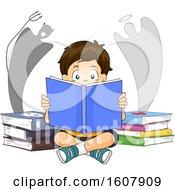 Poster, Art Print Of Kid Boy Good Bad Books Illustration