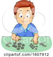 Kid Boy Bolt Screw Sorting Illustration