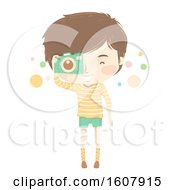 Kid Boy Camera Picture Illustration
