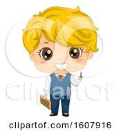 Kid Boy Chess Player Illustration
