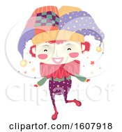 Kid Boy Clown Illustration