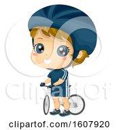 Kid Boy Cyclist Illustration