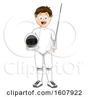 Kid Boy Fencing Outfit Illustration