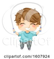 Kid Boy Jumping Rope Illustration