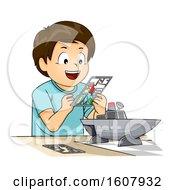 Kid Boy Plastic Model Illustration
