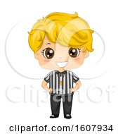 Kid Boy Referee Illustration