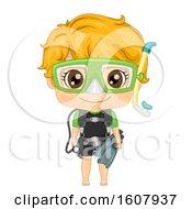 Kid Boy Scuba Dive Illustration