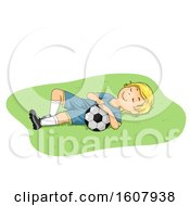 Kid Boy Sleep Soccer Illustration