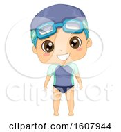 Kid Boy Swimming Suit Illustration