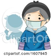 Kid Boy Wear Protective Mask Illustration