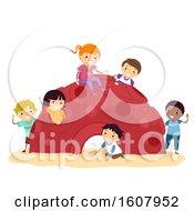 Stickman Kids Cozy Dome Playground Illustration