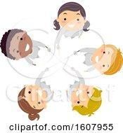 Poster, Art Print Of Stickman Kids Fencing Sword Up Team Illustration