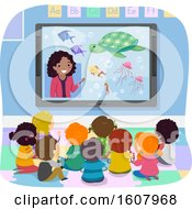 Stickman Kids Virtual Field Trip Illustration