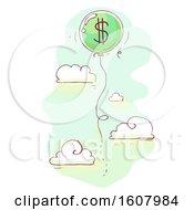 Balloon Dollars Illustration