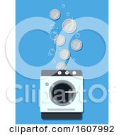 Laundry Business Coins Illustration