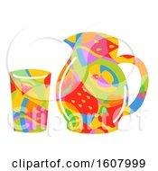 Fruit Juice Pitcher Glass Illustration